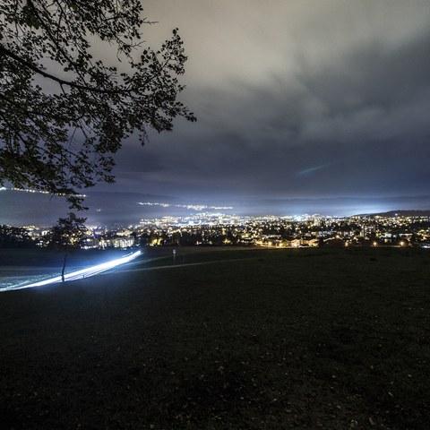 5 Nidau by night, von Süden. Vergrösserte Ansicht