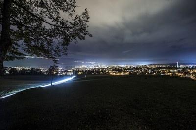 5 Nidau by night, von Süden