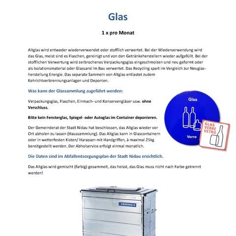 Glas. Vergrösserte Ansicht